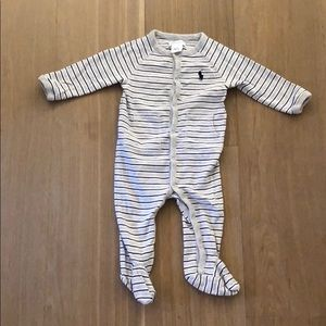 Ralph Lauren Striped Footsie Pajama *like new*